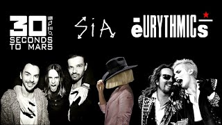 30 Seconds To Mars + Sia + Eurythmics - Hurricane Breathe Me Again (MASHUP)
