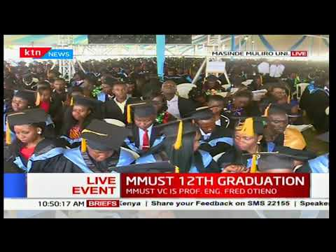 Thousands graduate with various certificates at the Masinde Muliro University