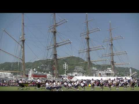 長崎市立西浦上小学校 2017長崎帆船まつりマーチングフェスティバル 20170422 112946
