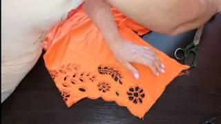 Как уменьшить трикотажную футболку в размере.Ушиваем футболку.