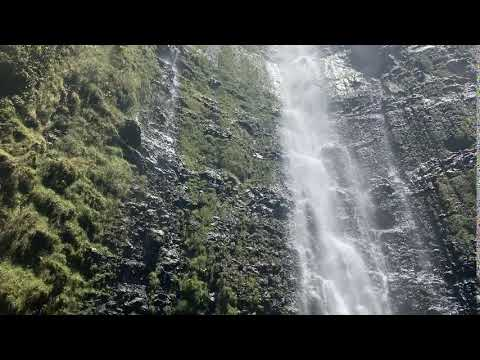 the waterfall at the end of the Pipiwai Trail