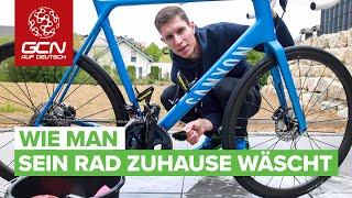 Wie man sein Fahrrad zuhause wäscht | Rennrad reinigen in 30 Minuten