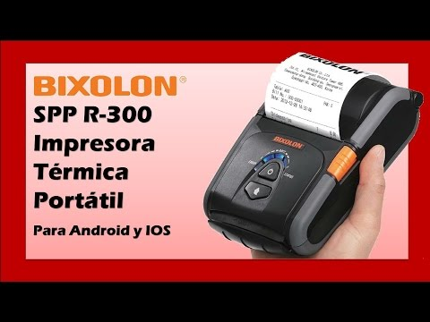 Bixolon Impresora Térmica Portátil para Android y IOS :: SPP-R300