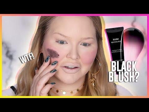 WORLD'S WORST BLUSH?? Testing BLACK CREAM BLUSH!