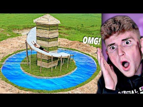 He Made The Best SECRET Underground Water Slide..