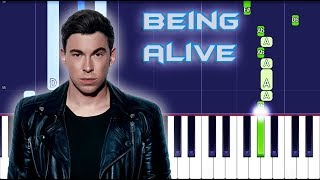 Hardwell Feat. JGUAR   Being Alive Piano Tutorial EASY (Piano Cover)