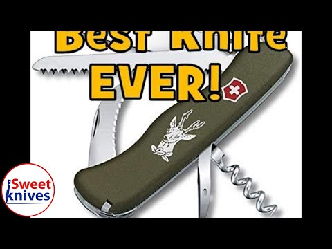 Victorinox Hunter Swiss Army Knife Green Olive Best Knife Ever Review