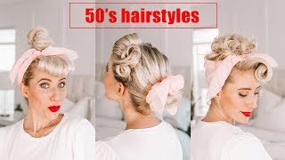 FOUR 50s Hairstyles | Poodle Skirt Costume Ideas For Halloween