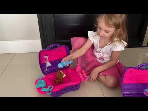 Minha Maletinha - Pet Shop - Cachorrinho - sai água de verdade - Review - Divertoys
