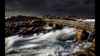 Bridge Over Troubled Water - Lyrics on Screen - The Vintage Five - Cover