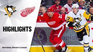 NHL Highlights | Penguins @ Red Wings 1/17/20