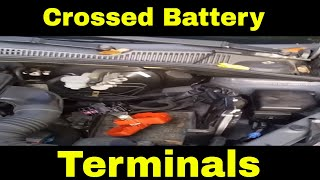 How to fix the damage when you cross the battery terminals in a modern car