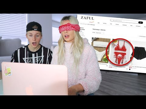 I went online shopping blindfolded..