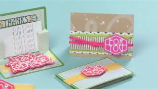 Pop Up Gift Card Holder With Sizzix Thinlits