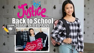 JUSTICE BACK TO SCHOOL HAUL | TRY ON