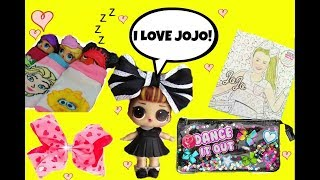 Jojo Siwa Theme ~ LOL Surprise Dolls Slumber Party ~ Claire's Haul ~ L.O.L. Doll Story Video