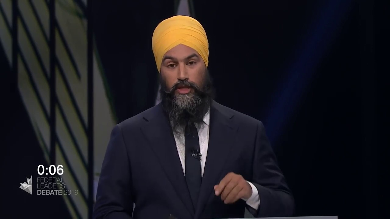 Jagmeet Singh answers a question about working with the provinces