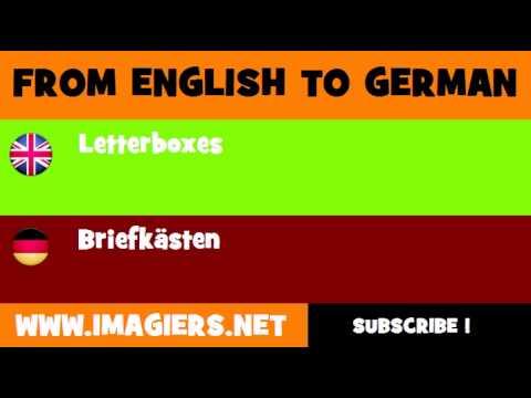 DEUTSCH   ENGLISCH  = Briefkästen