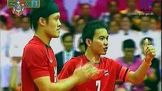 THAILAND - INDONESIA Sepak Takraw King's Cup 2013 Final Match Men's Team (B)
