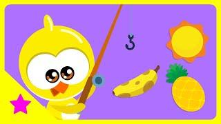 Galinha Pintadinha Mini - Atividade Pescaria de Cores - Amarelo