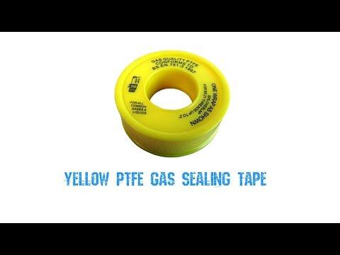 Yellow PTFE Gas Sealing Tape