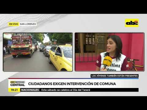 San Lorenzo: Ciudadanos exigen intervención de la comuna