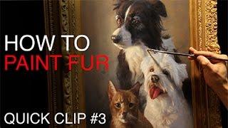 Painting PET PORTRAITS / How To Paint Fur!