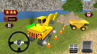 ## Tunnel Construction Highway 3D || construction game ||Tunnel JCB Working construction game