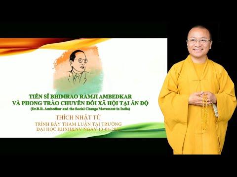 Tham luận của TT. Nhật Từ trong hội thảo khoa học về B.R. Ambedkar
