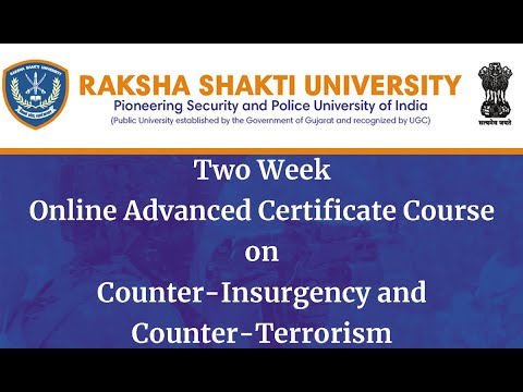 Inaugural Session of Advanced Certificate Course | Counter ...