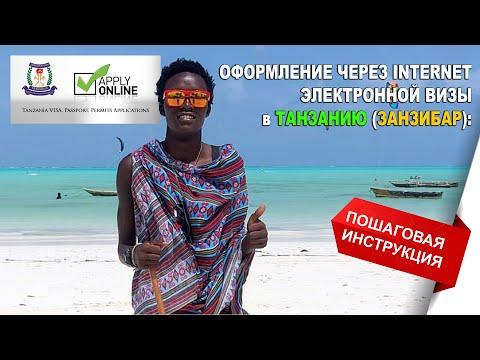 Оформление электронной визы в Занзибар (Танзания) через Интернет: пошаговая инструкция