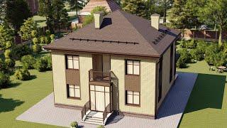 Проект дома 150-B, Площадь дома: 150 м2, Размер дома:  10,4x10,1 м