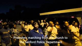 Trayvon Martin,  The people of Sanford protested and marched for justice.