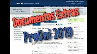 Documentação ProUni 2019 / Documentos Que O Site Do INEP Não Informa...