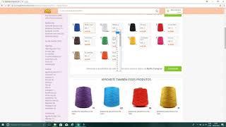 Comprando materiais para artesanato pela internet