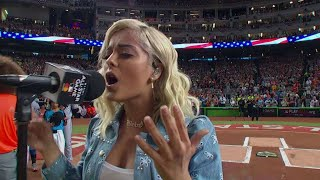 2017 ASG: Bebe Rexha sings the national anthem