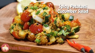 Spicy Potatoes & Cucumber Pickle Salad 🥔🥒🥗