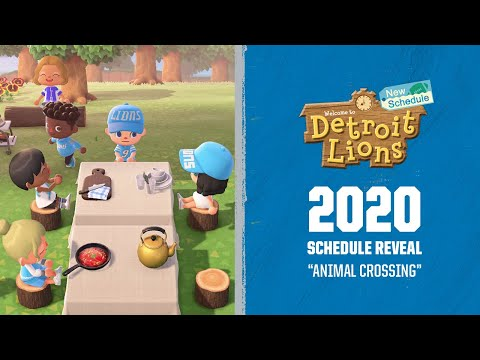 2020 Detroit Lions Schedule Reveal | Animal Crossing