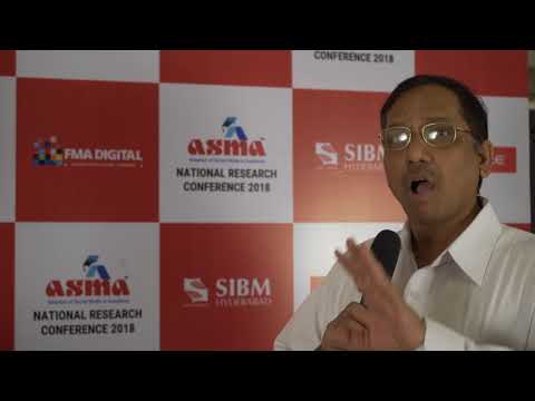 Dr. Bhaskar Rao, Professor at ICFAI Business School at ASMA Round Table Discussion 2018 (Hyderabad)
