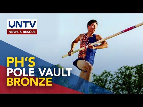 [UNTV]  Filipino pole vaulter EJ Obiena clinches bronze at Diamond League Rome 2020