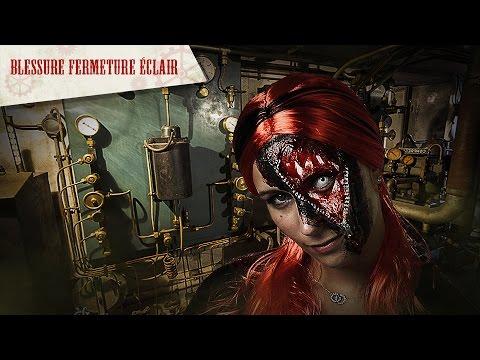 Makeup gore pour Halloween : fermeture éclair sur l'oeil