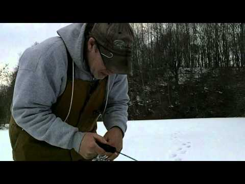 Ice fishing a stripmine pond with Jigs for bluegill – Rods in the Dirt Episode 10 Part1