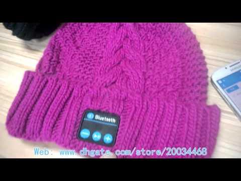 Luxury Bluetooth Music Soft Warm Beanie Hat Cap