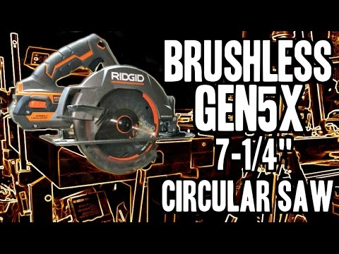 RIDGID Gen5X Brushless 7-1/4″ Circular Saw R8653 / R9206