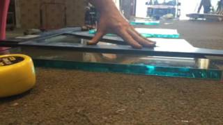 Cutting thick glass: small strip