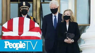 Bill & Hillary Clinton Join Mourners Honoring Ruth Bader Ginsburg At Supreme Court | PeopleTV