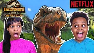 Shiloh's Epic Birthday Party & Jurassic World Camp Cretaceous Dinosaur Egg Hunt! - Onyx Kids
