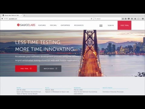 Parallel Testing with Sauce Labs Related YouTube Video