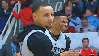 Half Court Shot Contest! Stephen Curry vs Russell Westbrook, Paul George, Giannis, & Joel Embiid