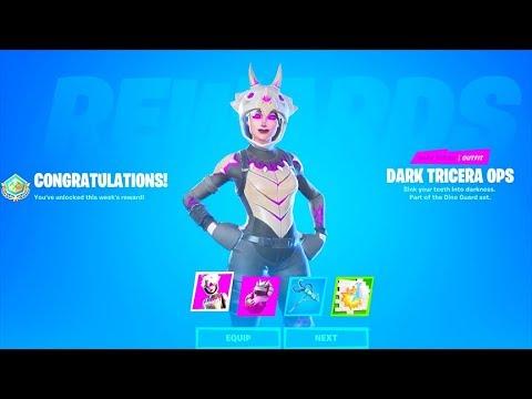 *NEW* Dark Tricera Ops FREE Skin..! (How to Unlock Free REWARDS) Fortnite Battle Royale
